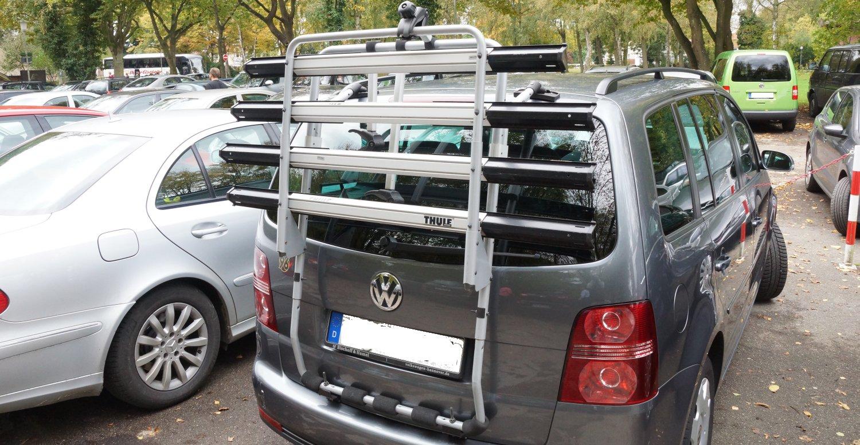 Fahrradträger am VW Touran Heckklappe